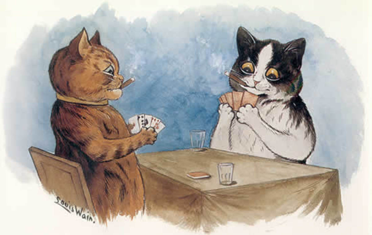 Another reason to get two cats.  It's too hard for just one cat to play poker!