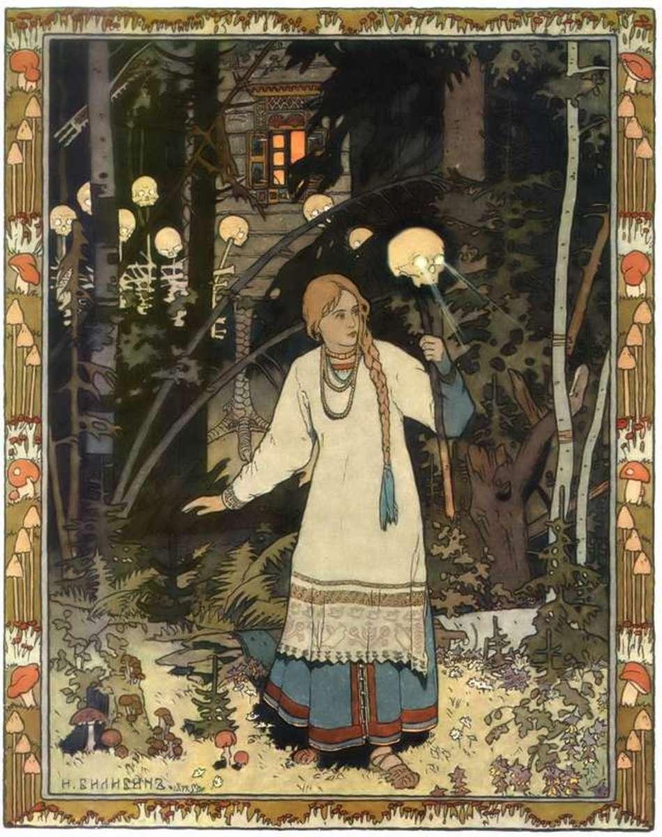 Russian version of Cinderella (called Vassilissa) by Ivan Bilibin