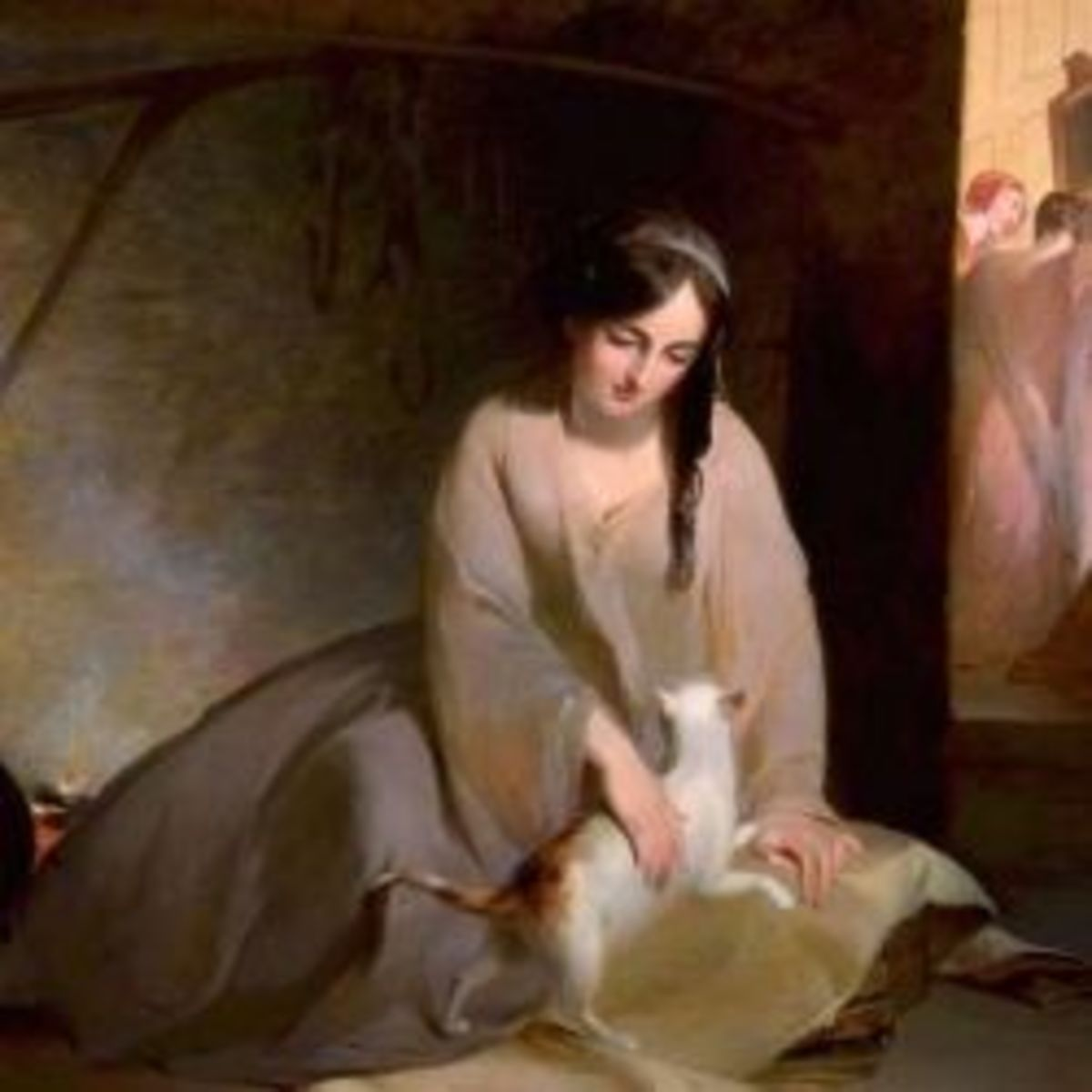 Painting of Cinderella by Thomas Sully