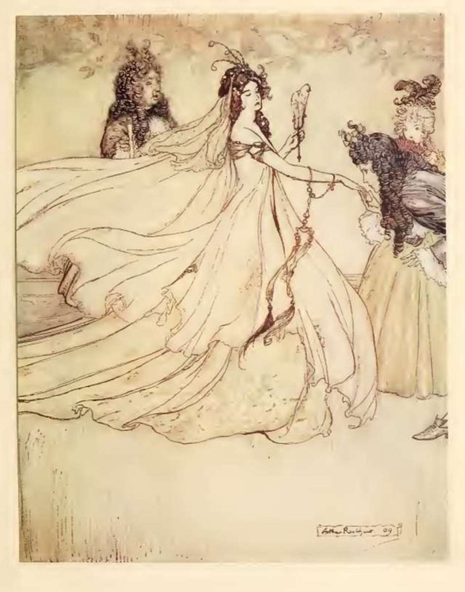 Ashputtel, illustration by Arthur Rackham