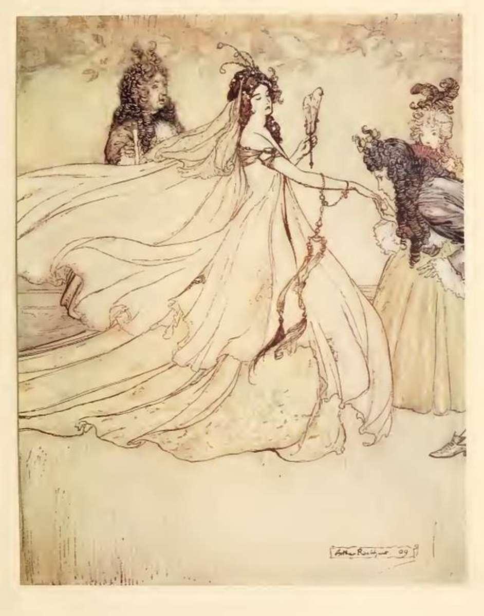 Ashputtel, illustration by Arthur Rackham