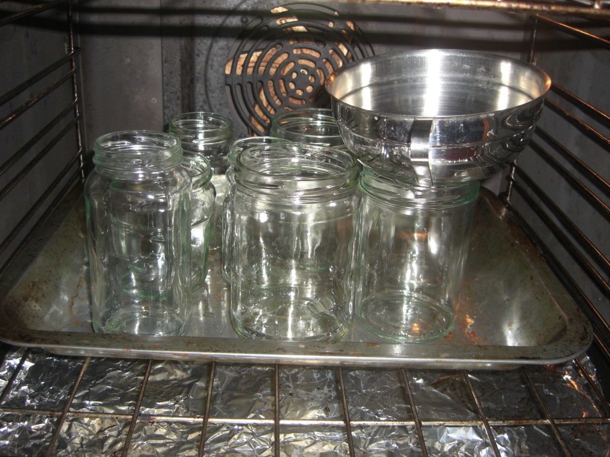 the sterilised jars
