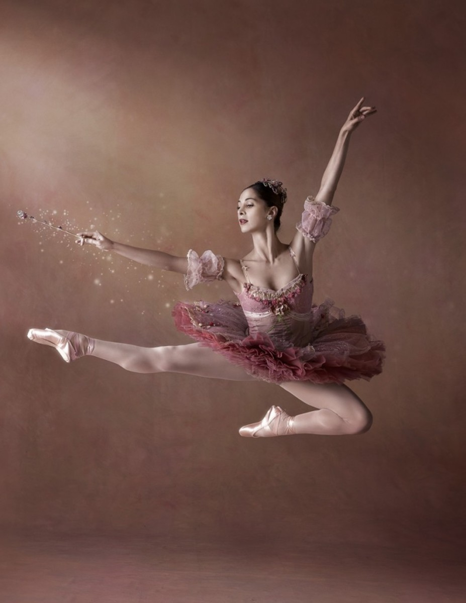 A ballerina as the Sugar Plum Fairy