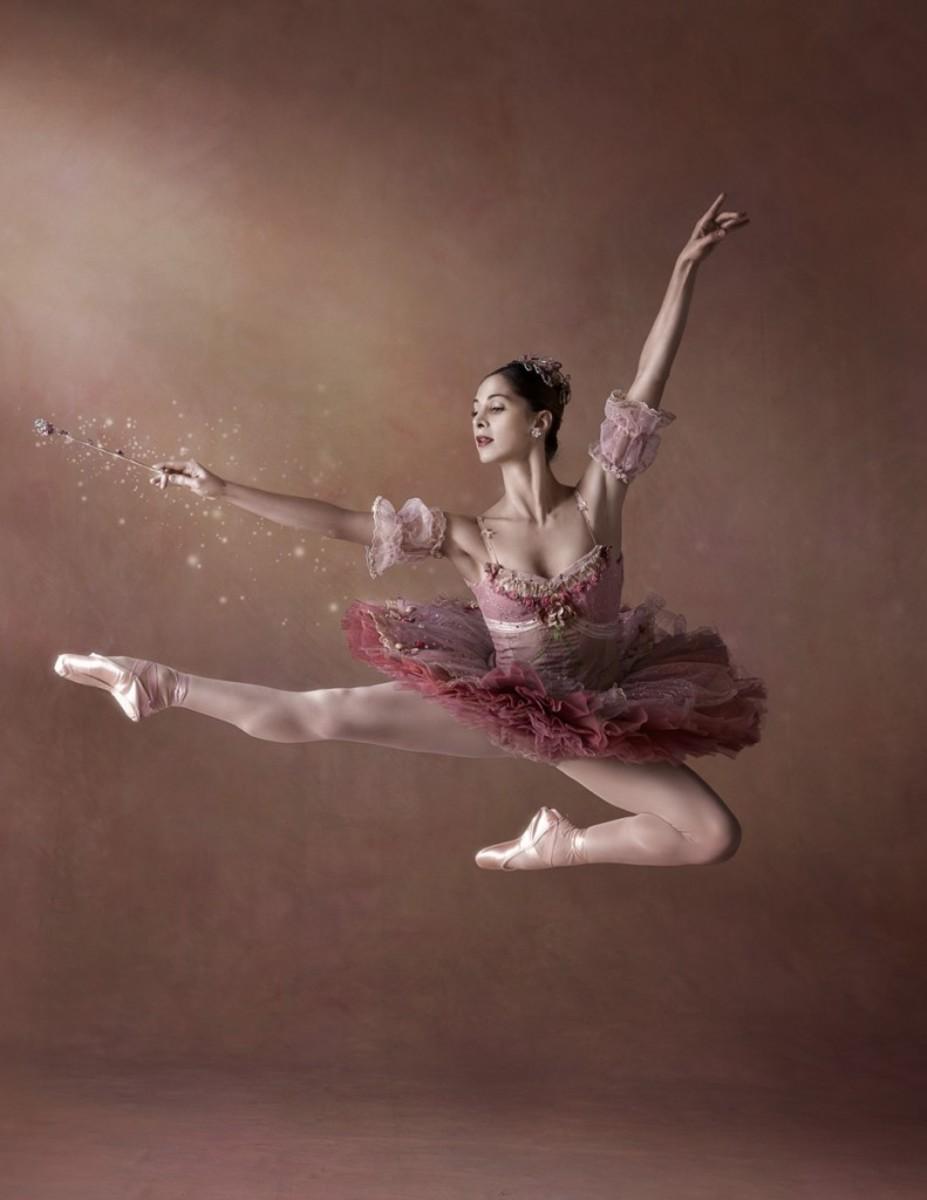 A ballerina as the Sugar Plum Fairy