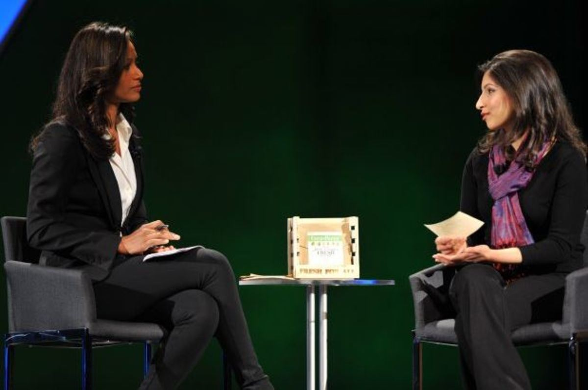 Here she is on a talk show. She founded a company that utilizes her invention that keeps produce fresh and avoids spoilage by at least 25%.