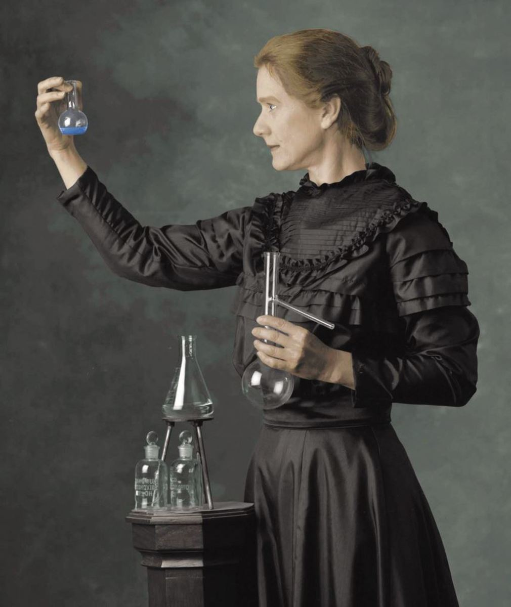 Madame Curie forced a re-consideration of physics and chemistry by the isolation of radium. She won multiple awards including a couple Nobel Prizes.