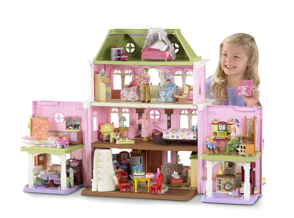 The Loving Family Grand Dollhouse is a good dollhouse for young children as it is durable and a good value.