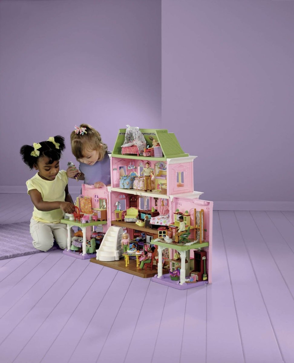 The loving family grand dollhouse provides hours of play.