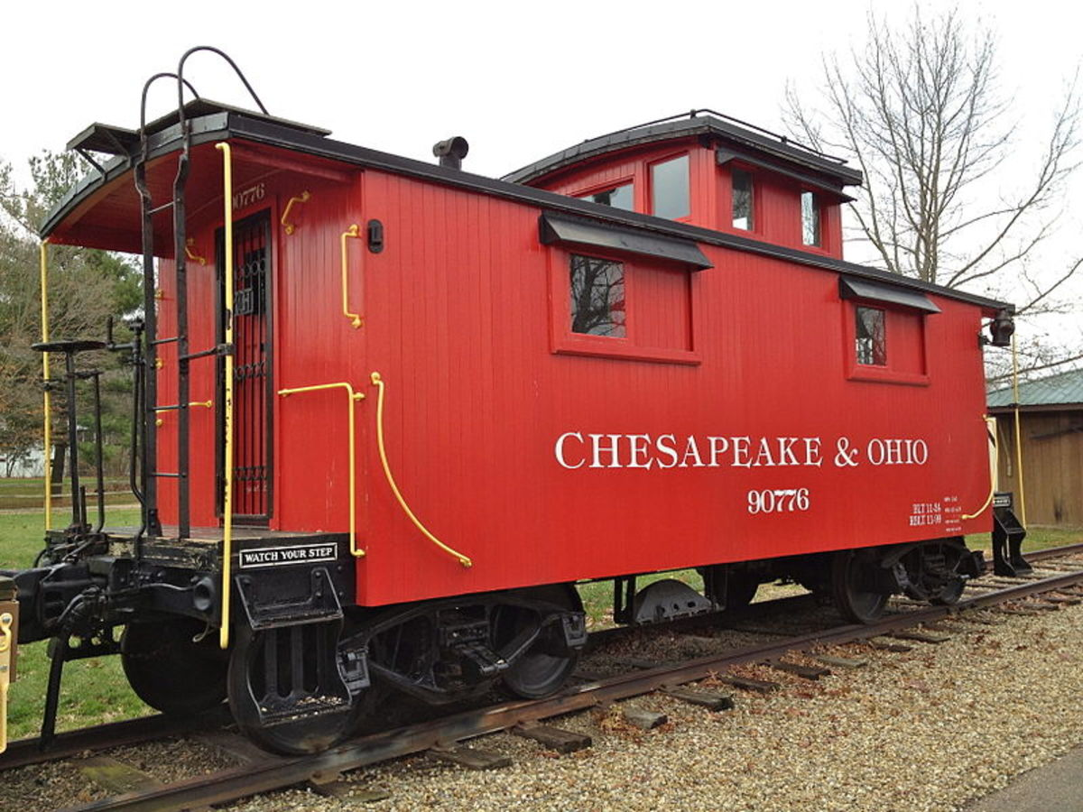 A caboose on exhibit.