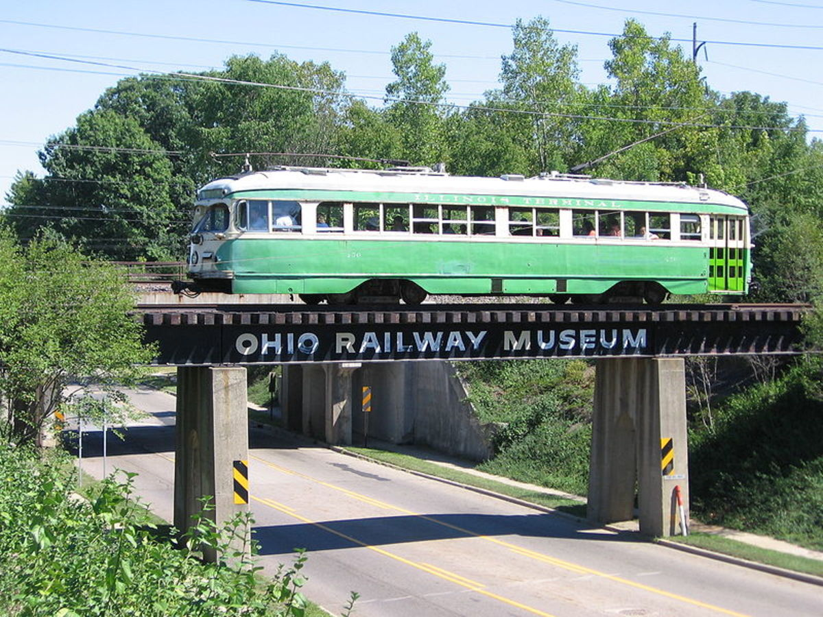Ohio Railway Museum train ride begins at the museum at Proprietor's Road and Route 161 in North Columbus/Worthington.