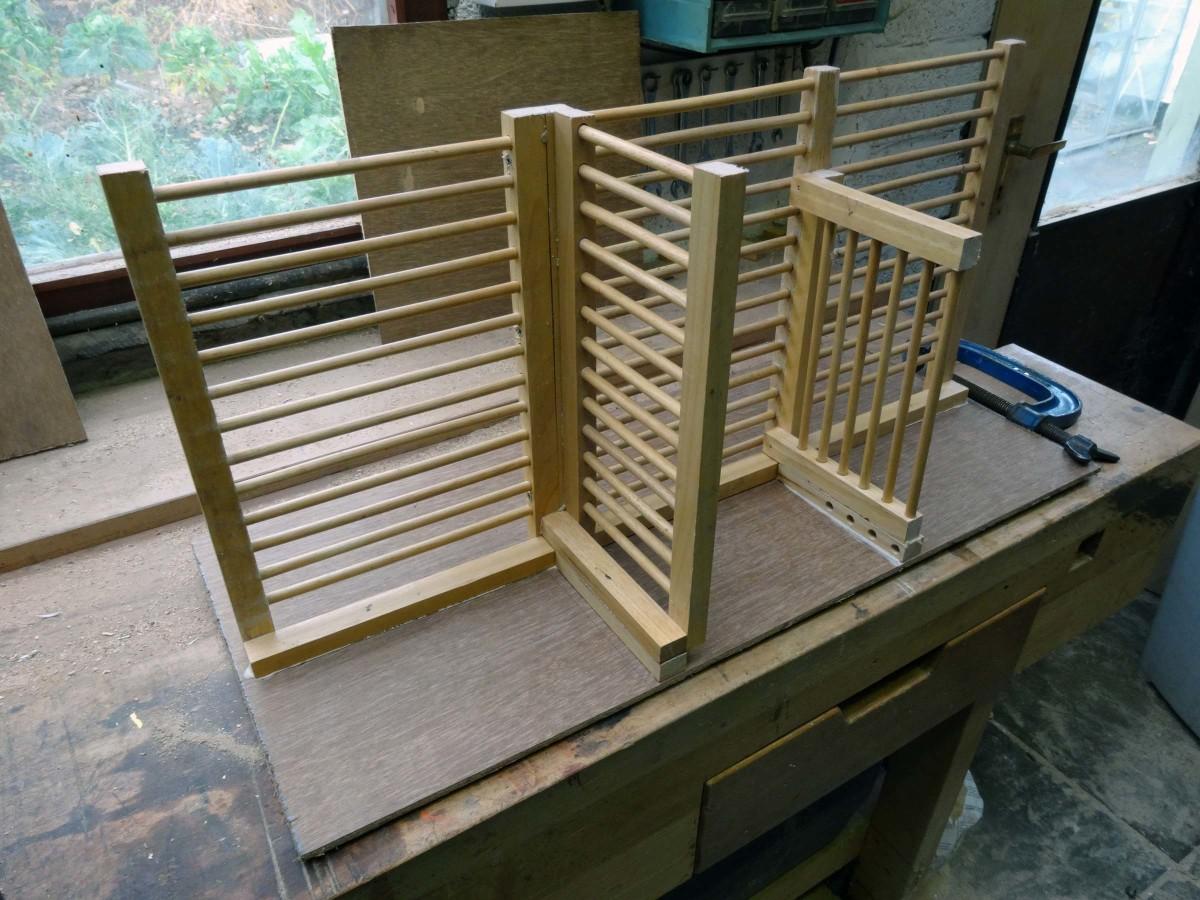Adding the plywood back panel.