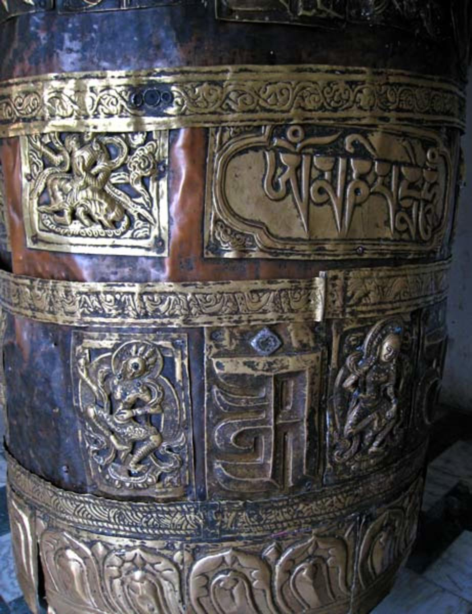 Prayer wheel at Triloknath