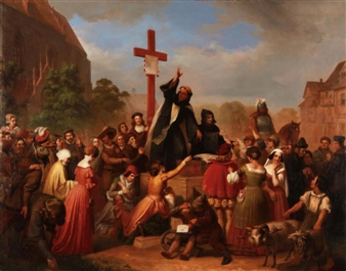Friar Johann Tetzel Selling Indulgences