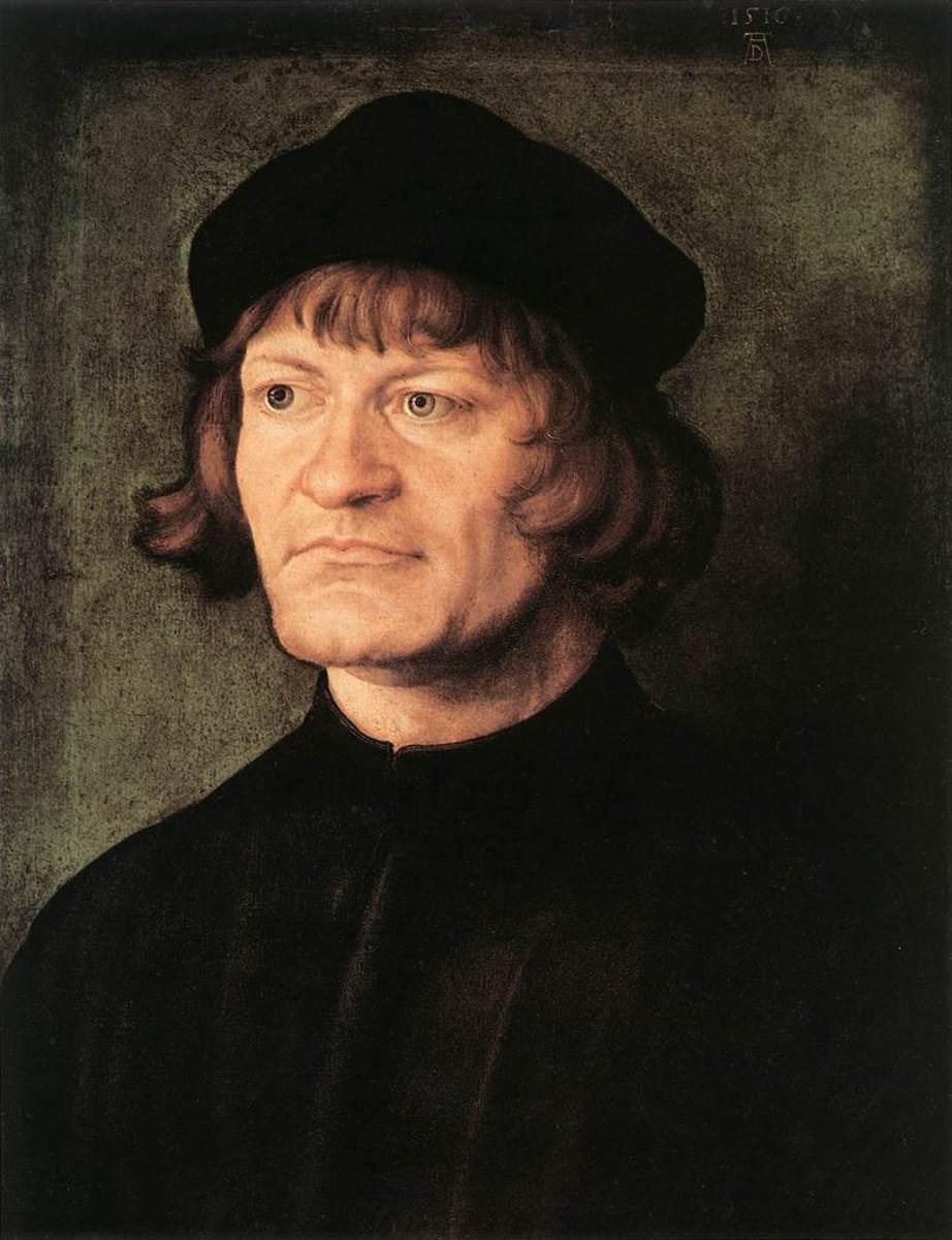 Huldrych Zwingli in a portrait by Albrecht Dürer (1516)