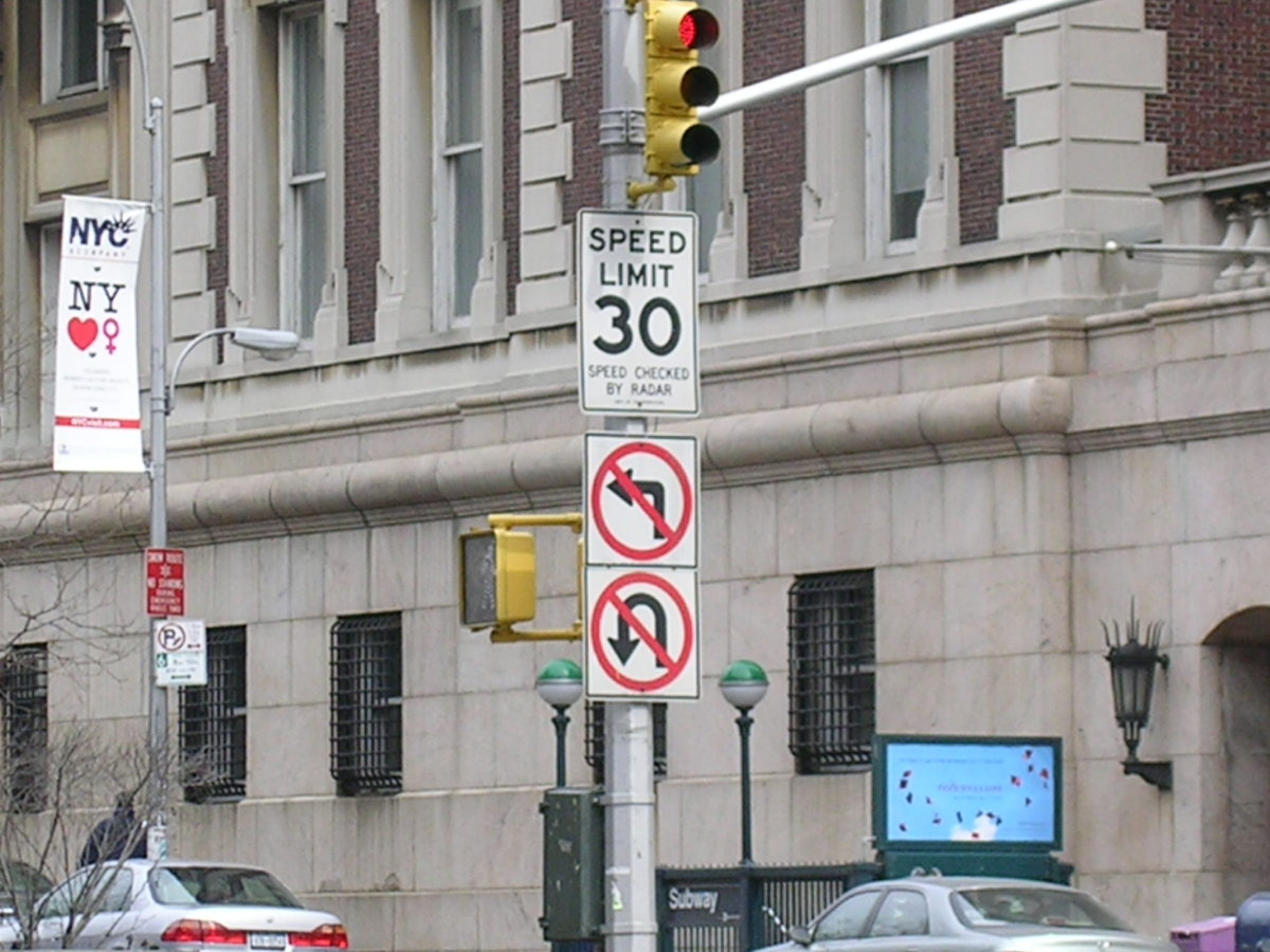 The NYC speed limit is 30mph, unless otherwise stated, whether posted or not.