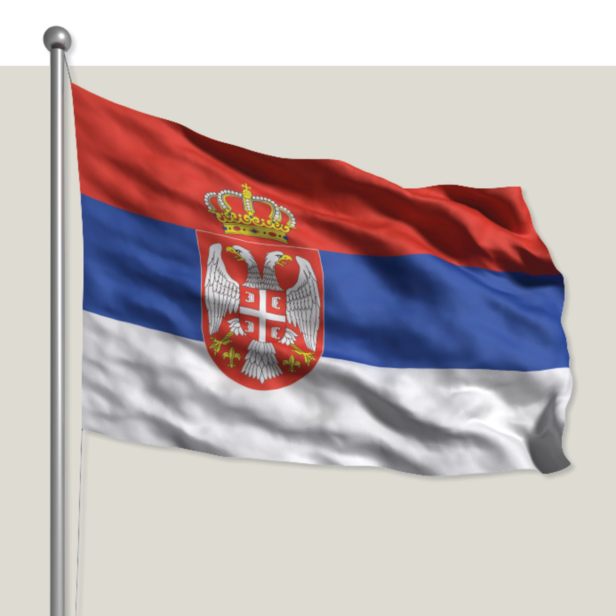 New Serbian flag