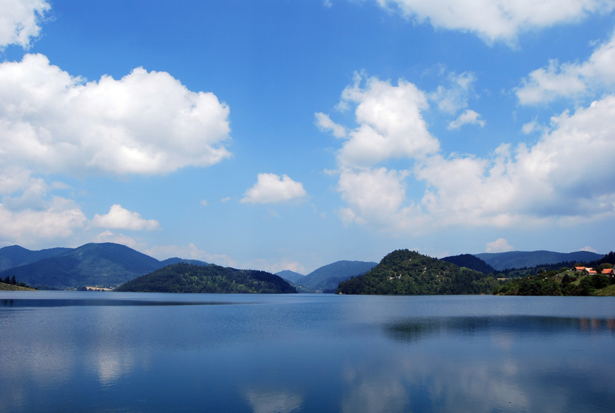 Zaovine lake on Tara mountain,Serbia