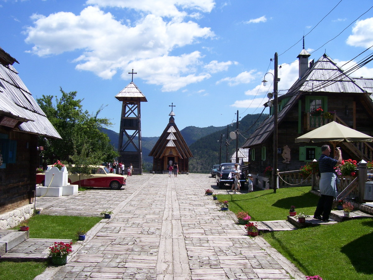 Drvengrad, Kustendorf, open air museum village, Mokra Gora, near Užice, Serbia.