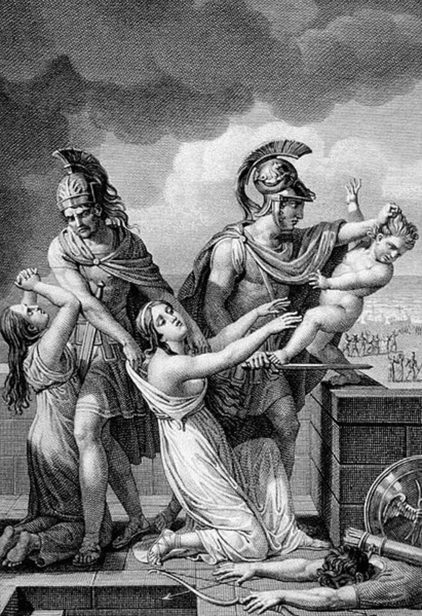 Neoptolemus with Hector's Wife and Son