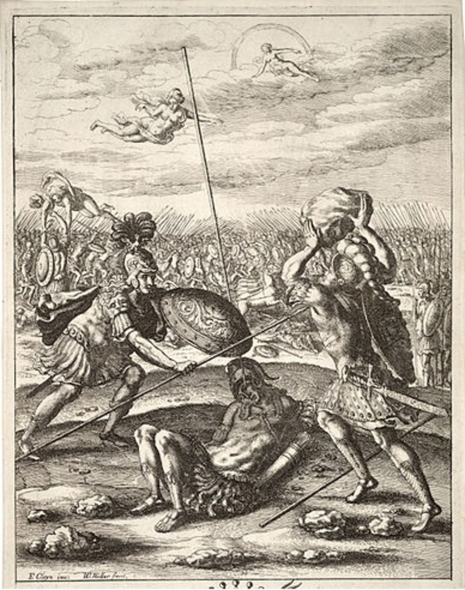 Diomedes Fights Aeneas
