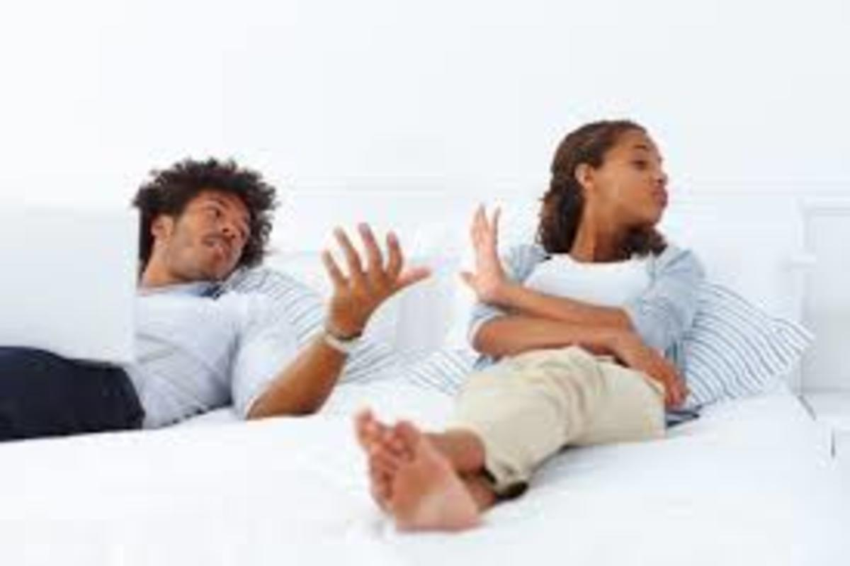 Defensive behaviour can lead to arguments in a relationship Photo taken from therapyformarrriage