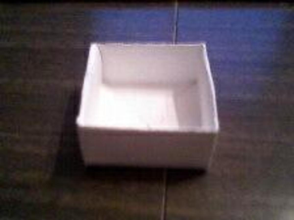 Finished box bottom.