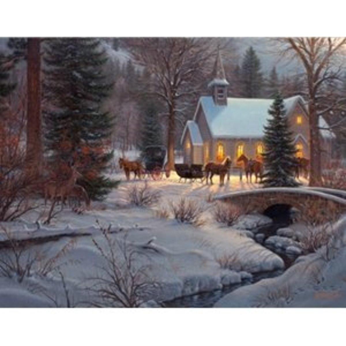 similar painting style to Thomas Kinkade