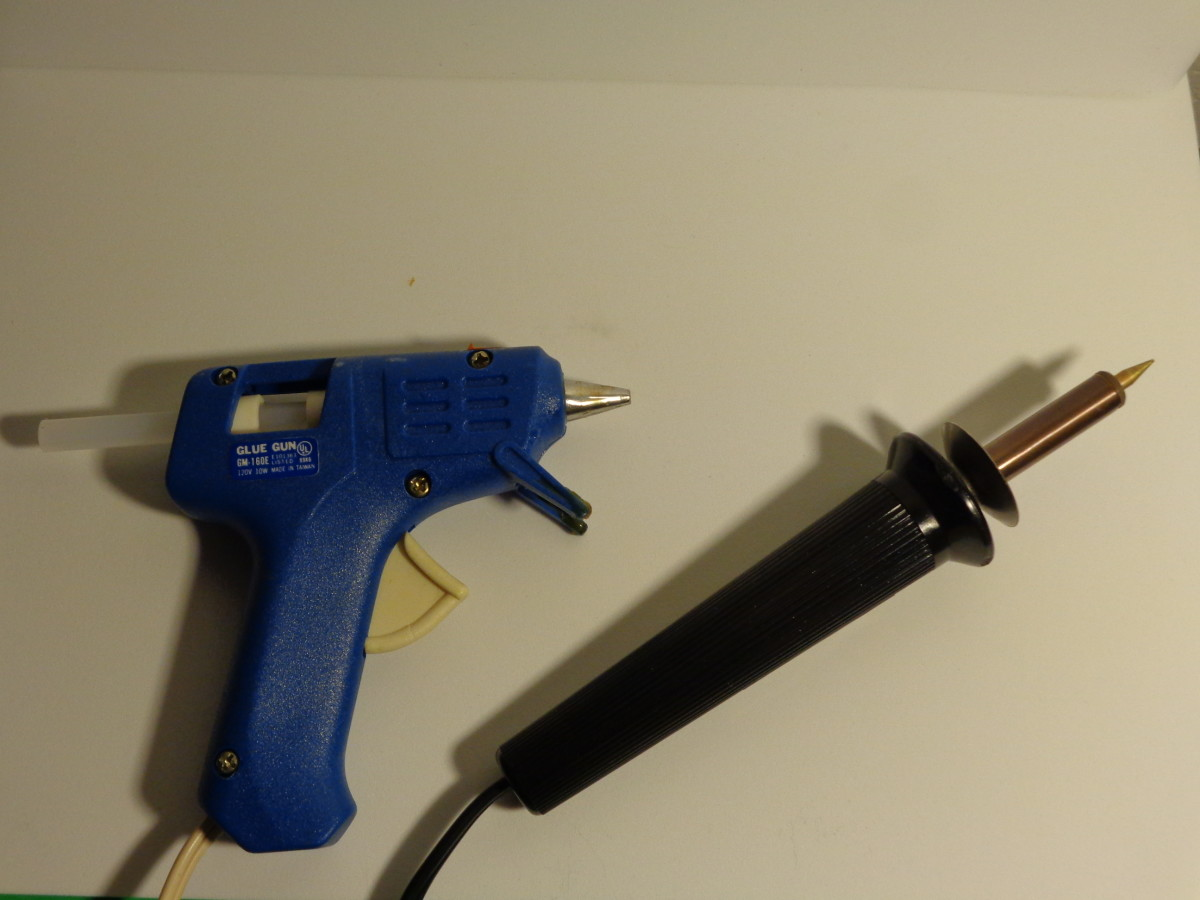 Hot Glue Gun and Wood Burning Iron