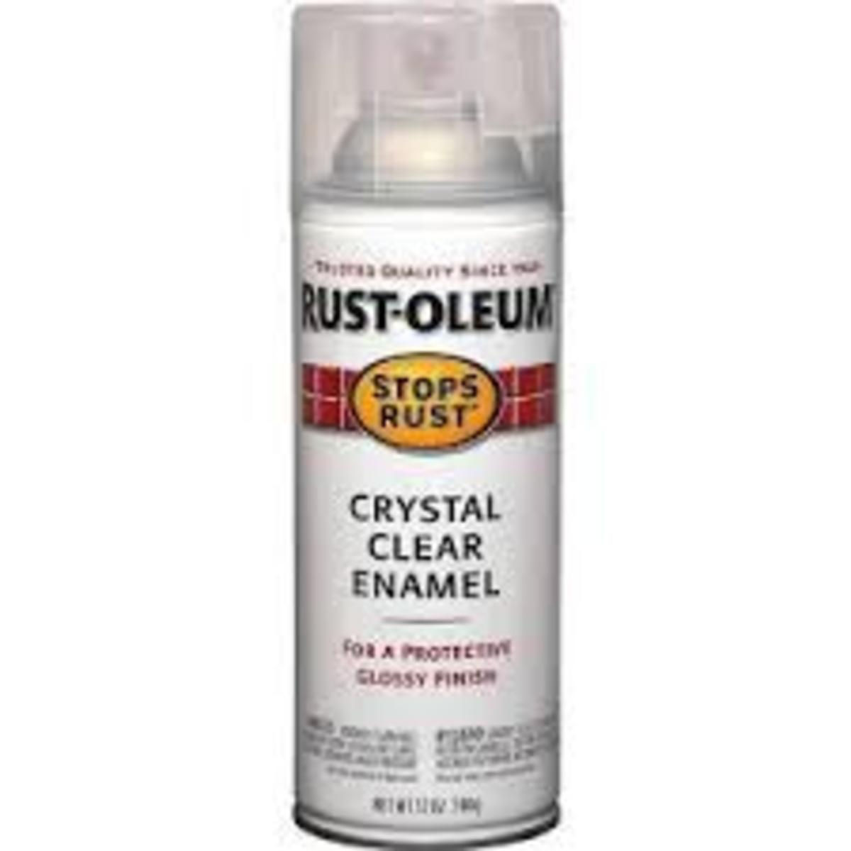 Rustoleum Clear Finish (or similar product)