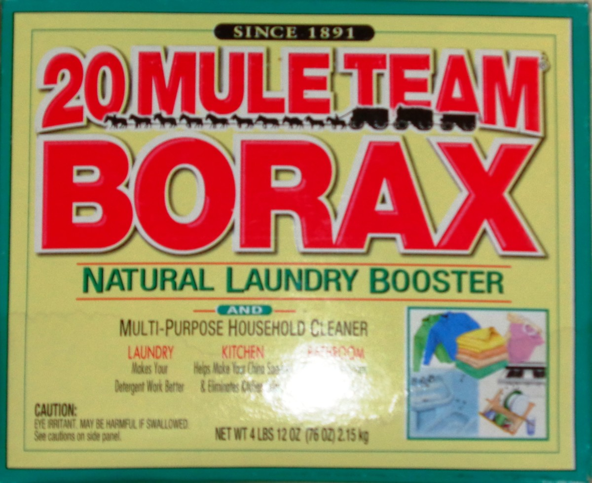 Here is the Borax we used.