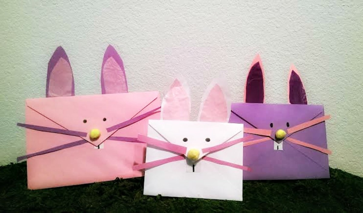 Make these bunny envelopes using old envelopes from birthday and anniversary cards.  Inspired by twigglemagazine.com