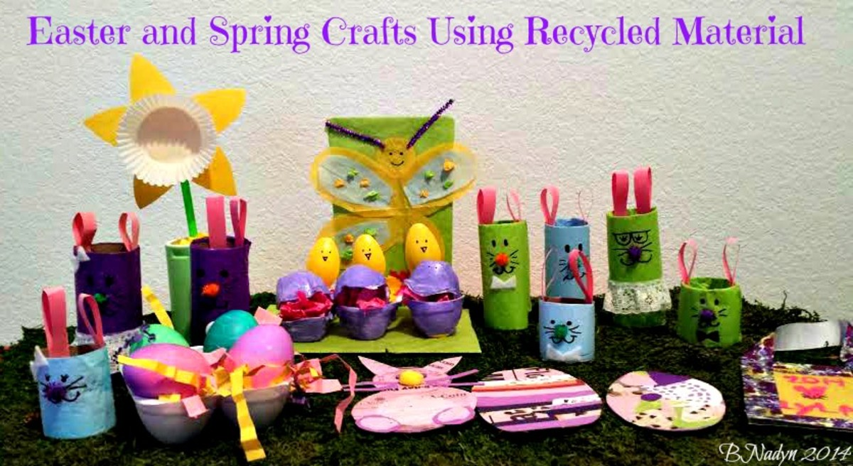 Easy easter and spring crafts using recycled material for Easy recycled materials