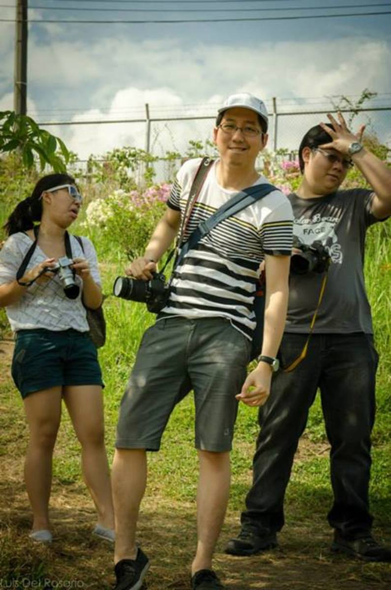 My friends and I striking some weird pose here in La Mesa Eco Park