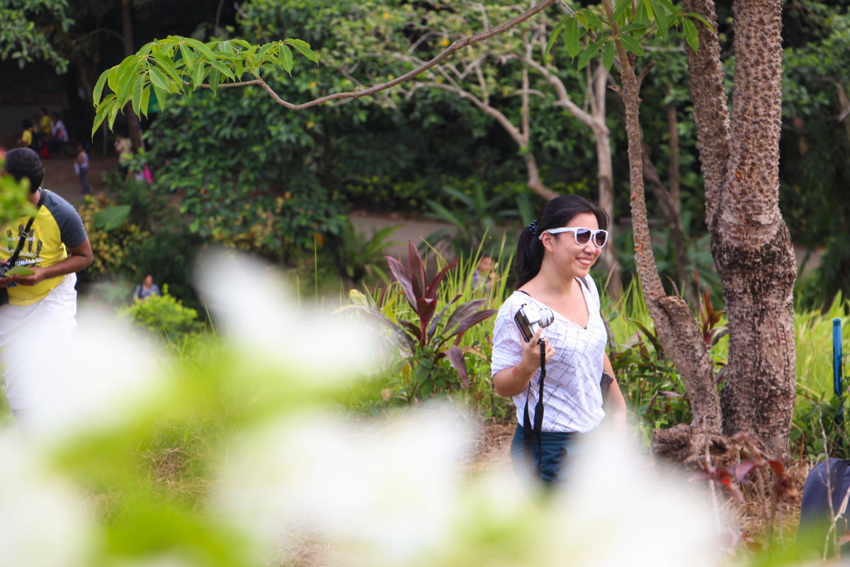The nature found here in the Eco Park serves as a great background for photos!