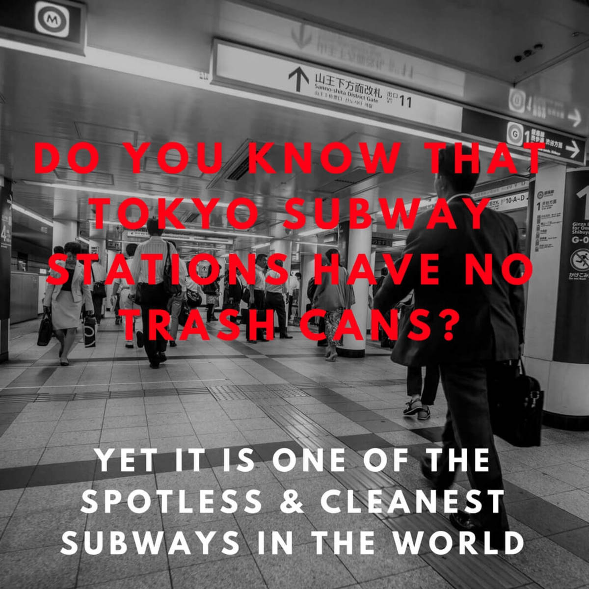 Tokyo Subway Stations Are One of The Cleanest In The World