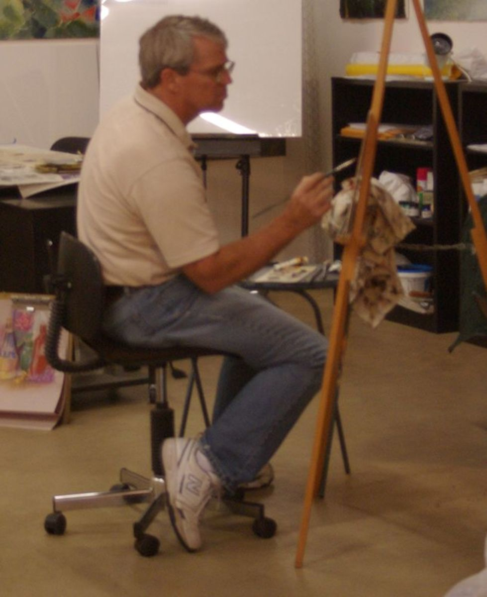 Ron Jarvi painting