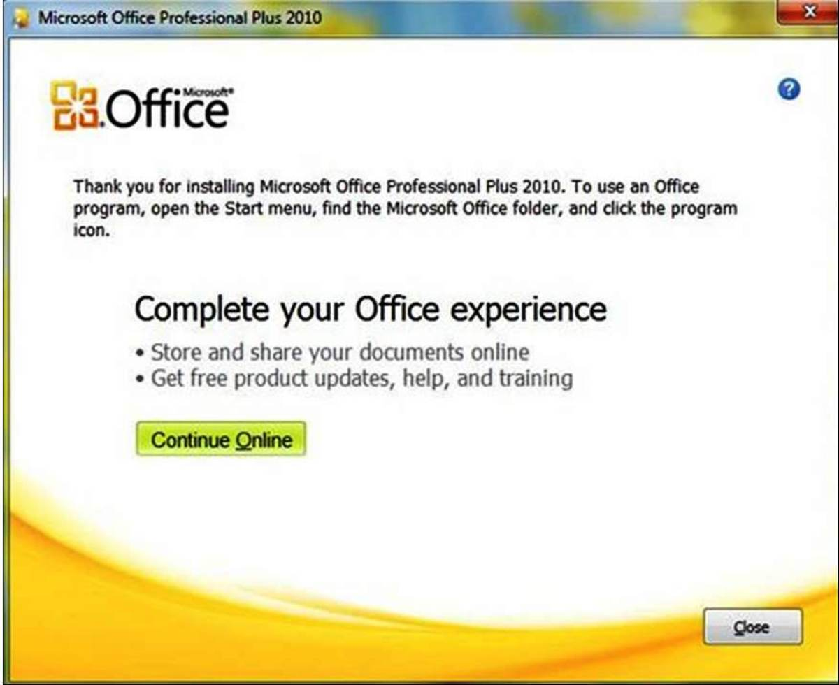 MS Office Installation Completed