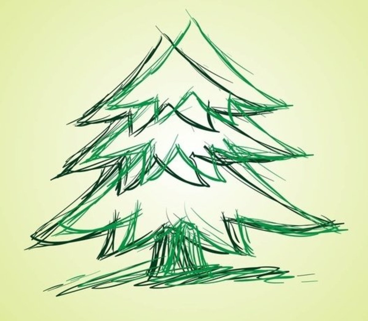 Sketch of Two Pine Trees