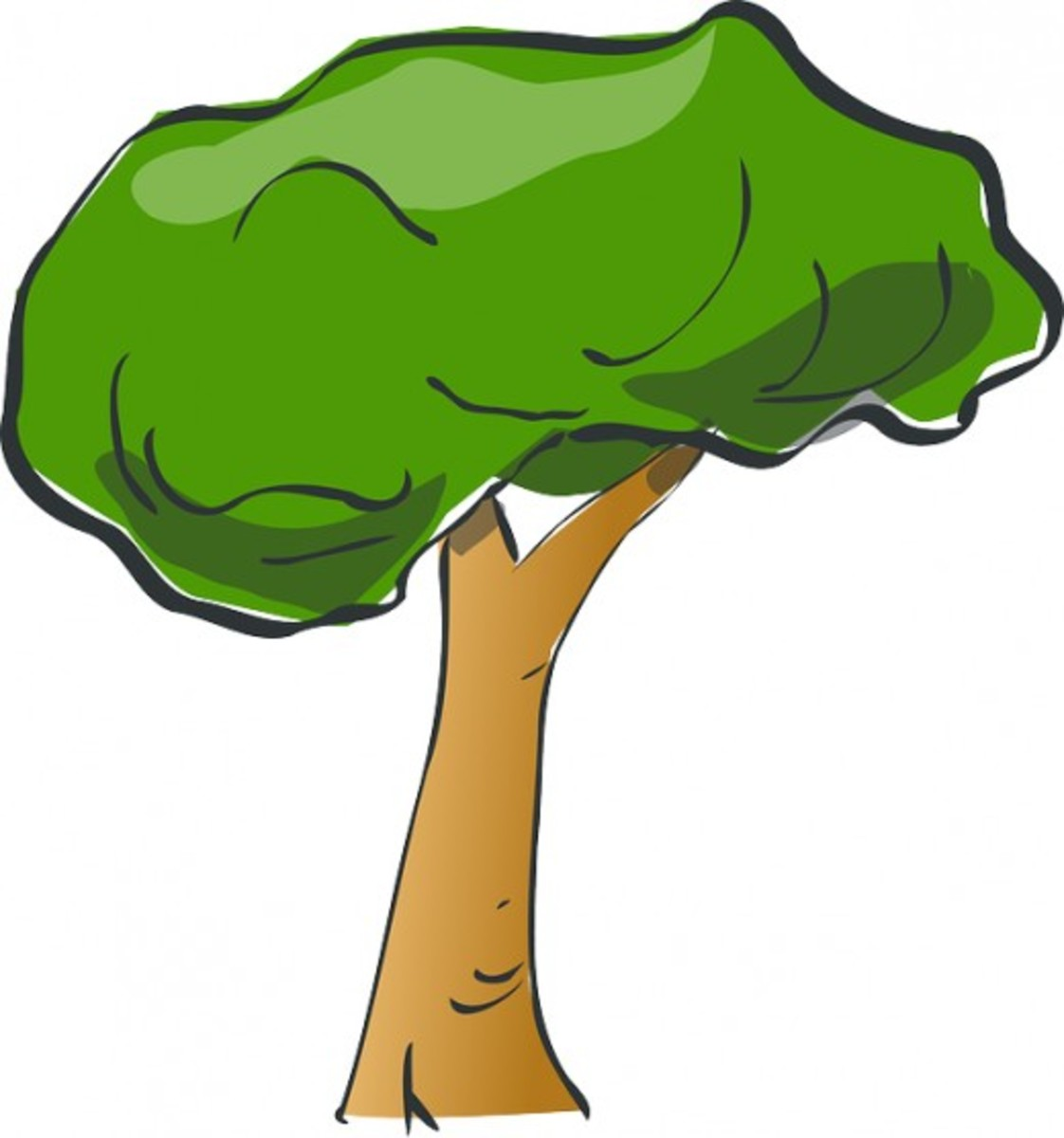 Two-Tone Green Tree
