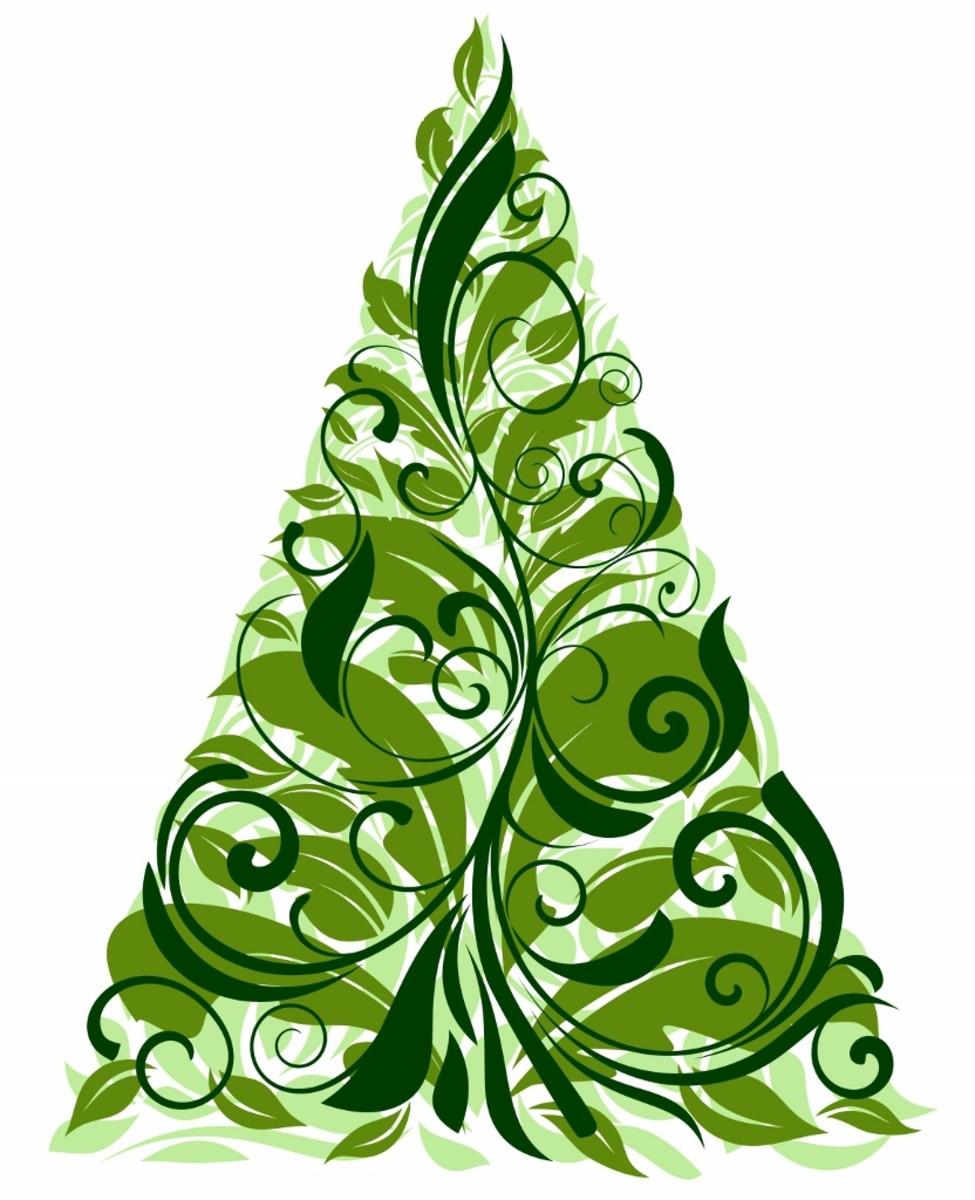 Scrolling Pine Tree