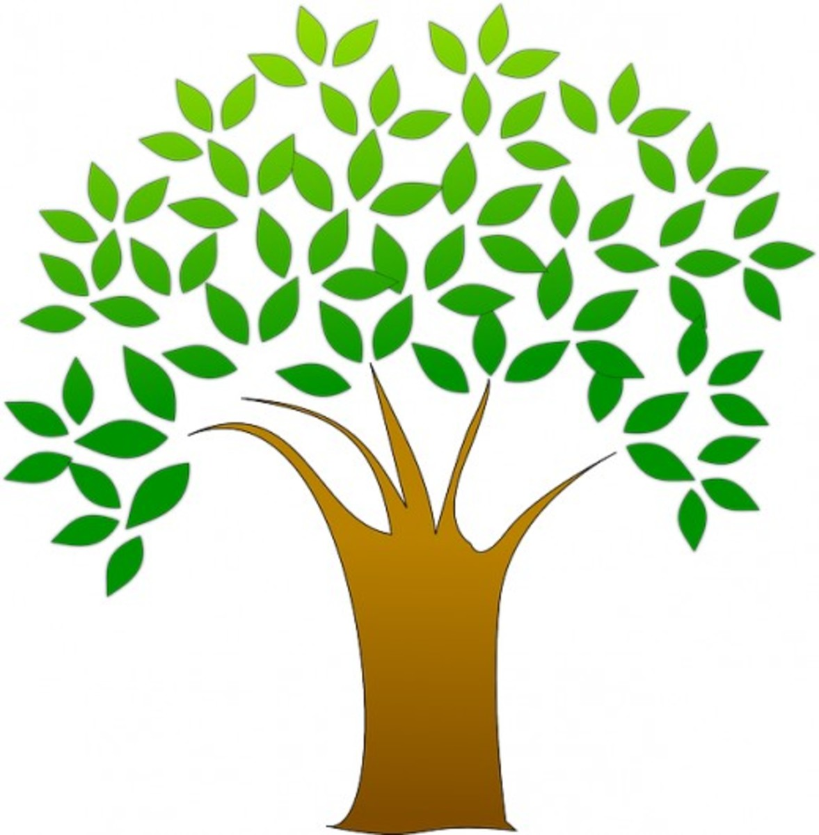Tree Clip Art of Tree with Leaves