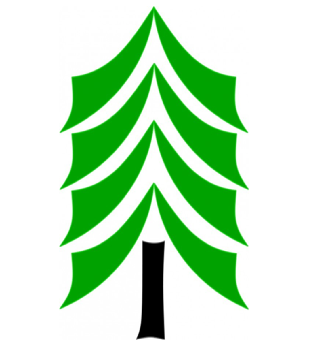 Geometric Pine Tree Logo