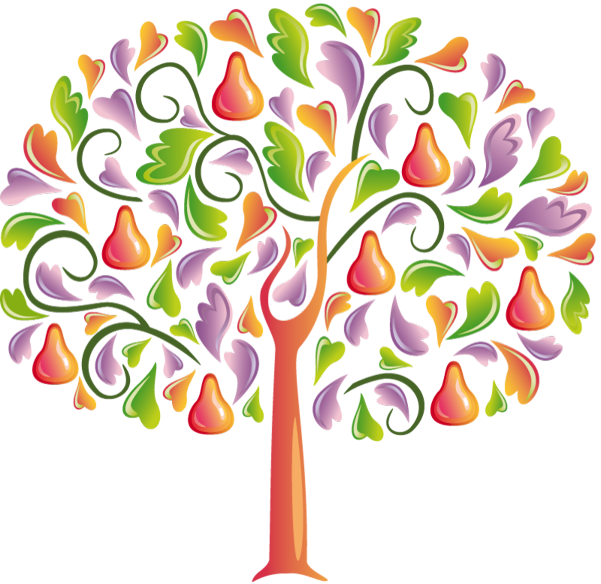 Colored Leaves on a Pear Tree