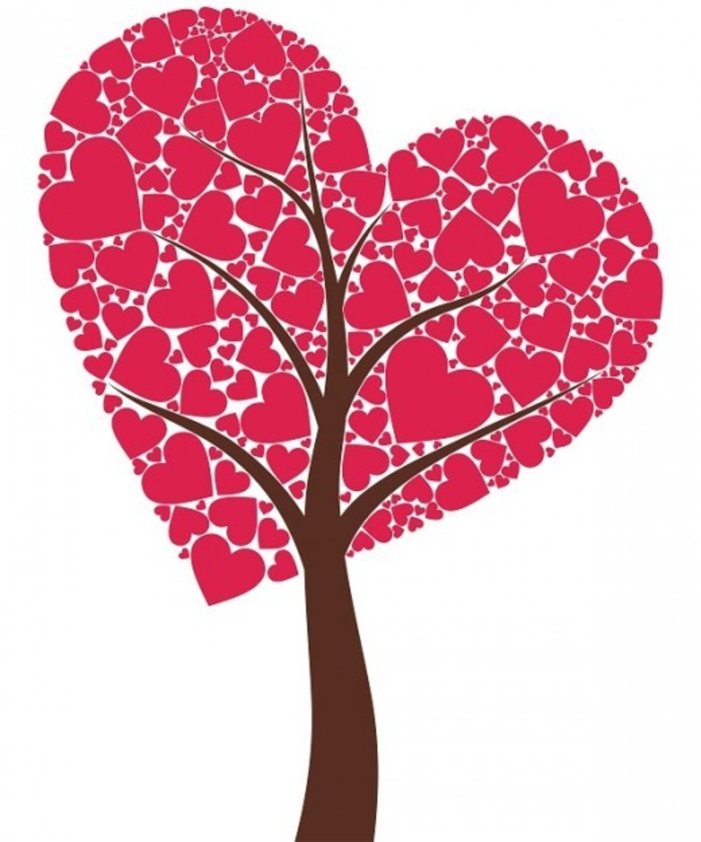 Big Tree of Red Hearts