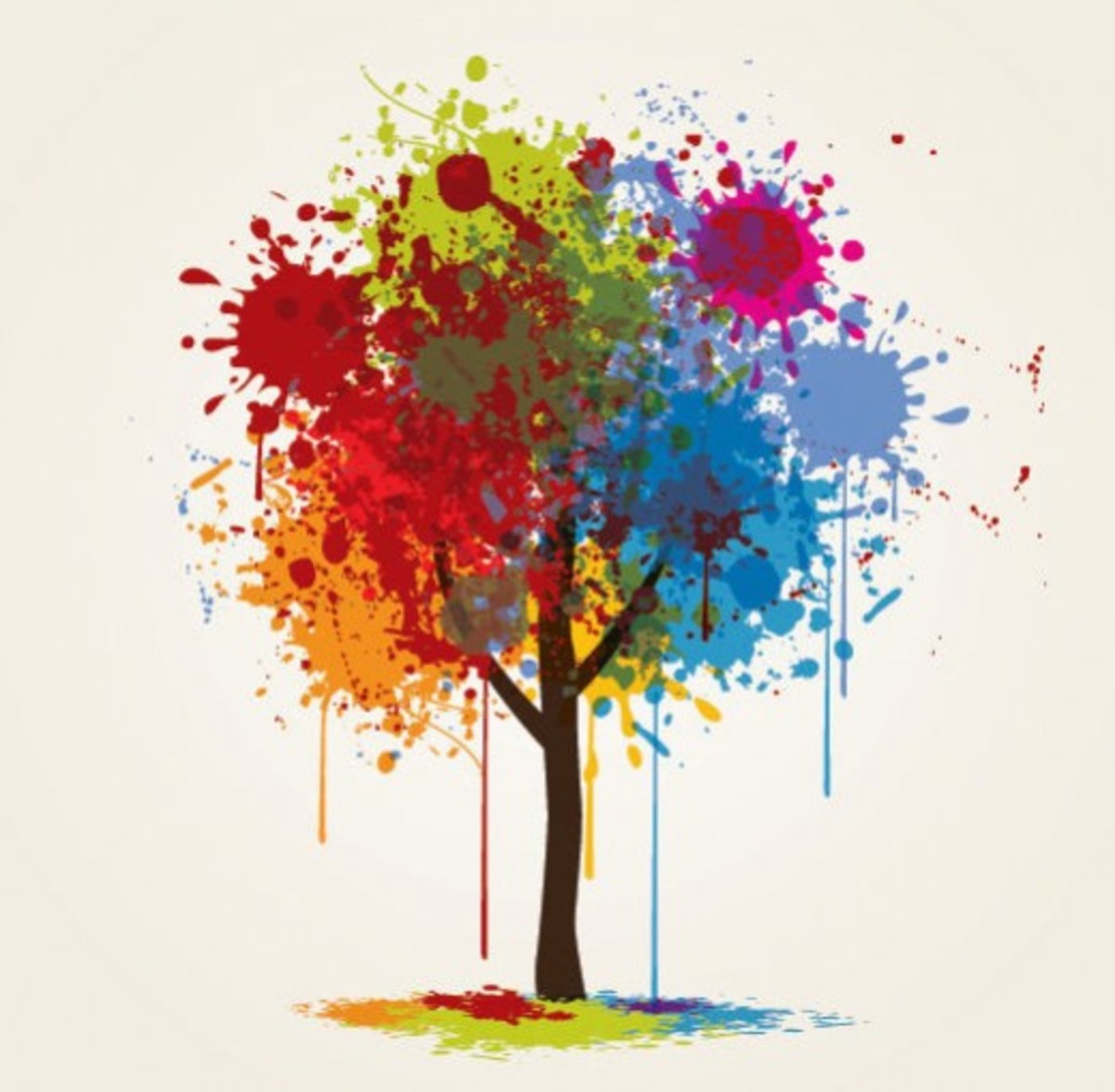 Paint Drip Tree