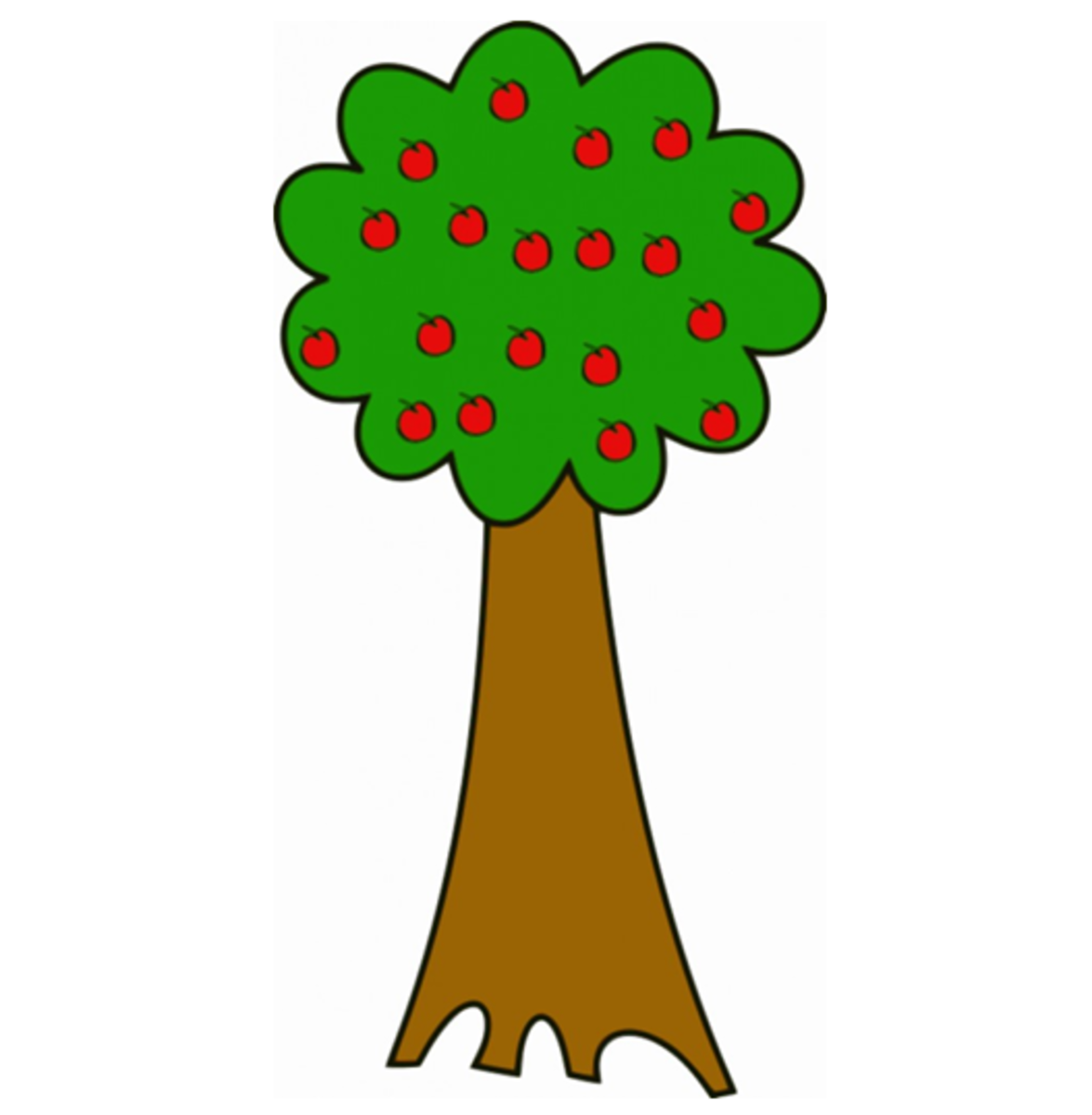 Tall Apple Tree Image