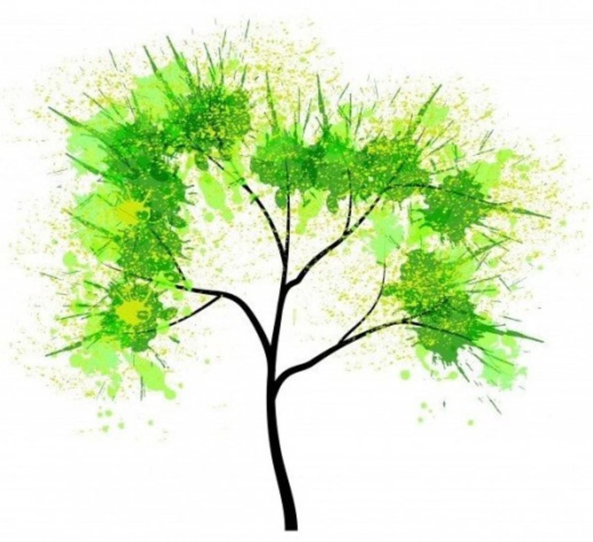 Splatter Paint Tree