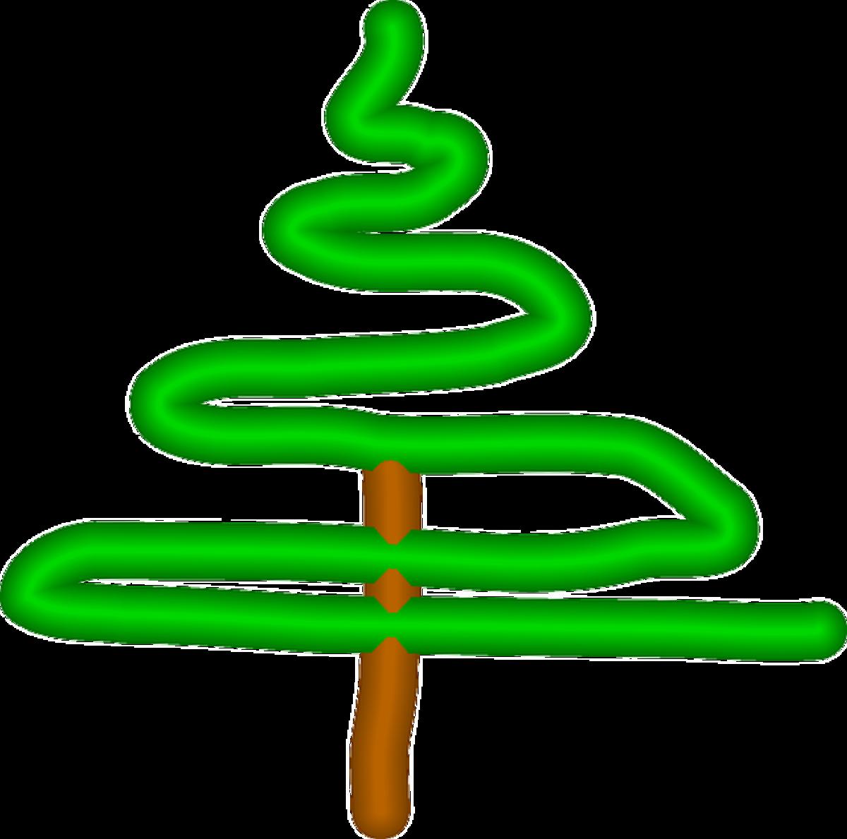 Pine Tree Scribble