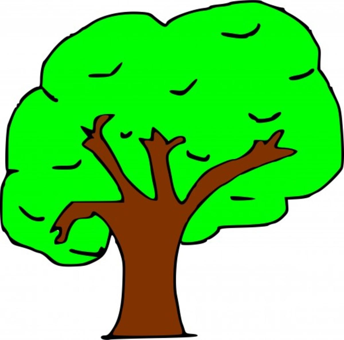 Neon Green Tree
