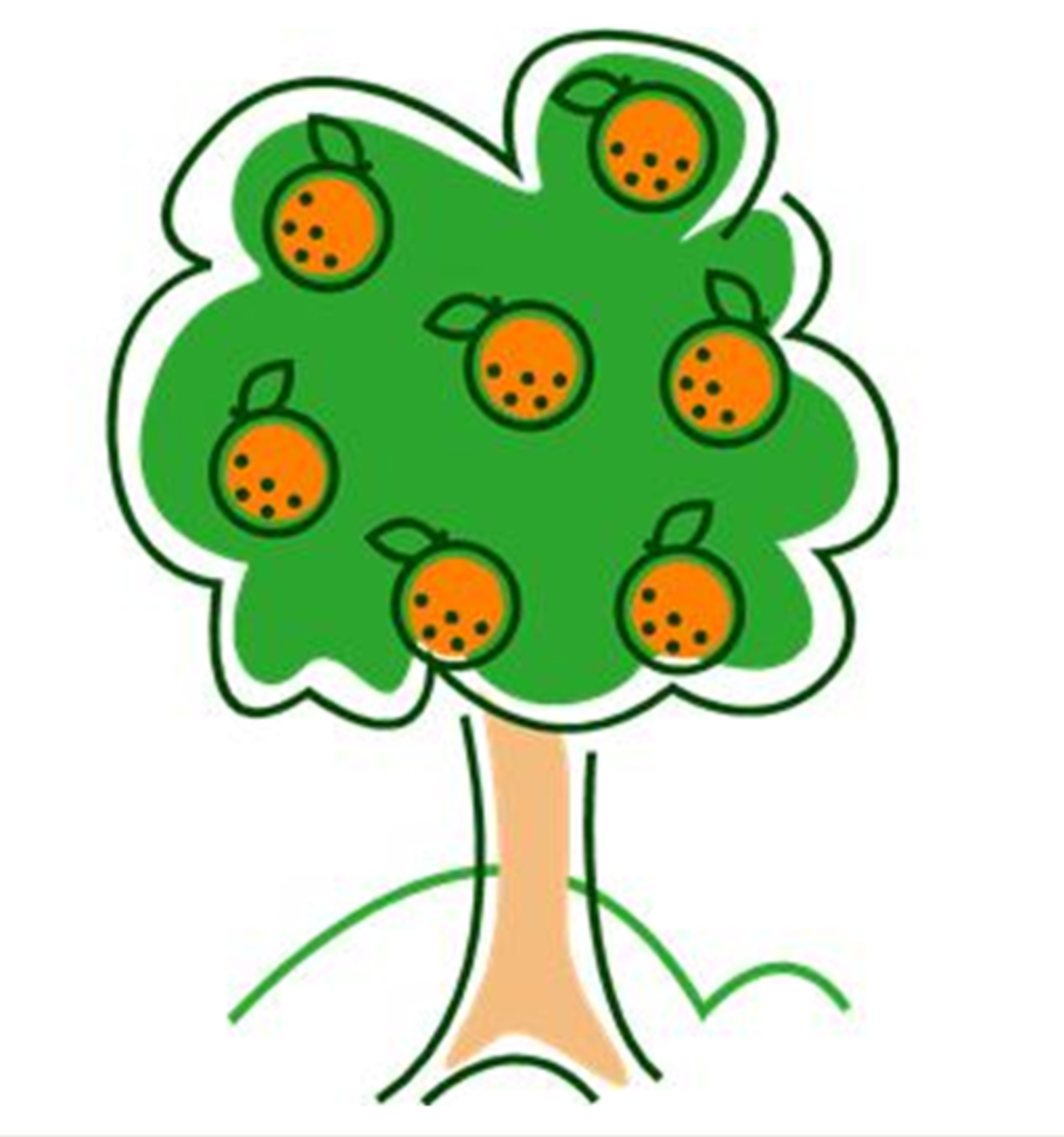 Orange Tree Clip Art